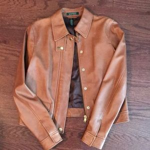Ralph Lauren leather jacket, size small